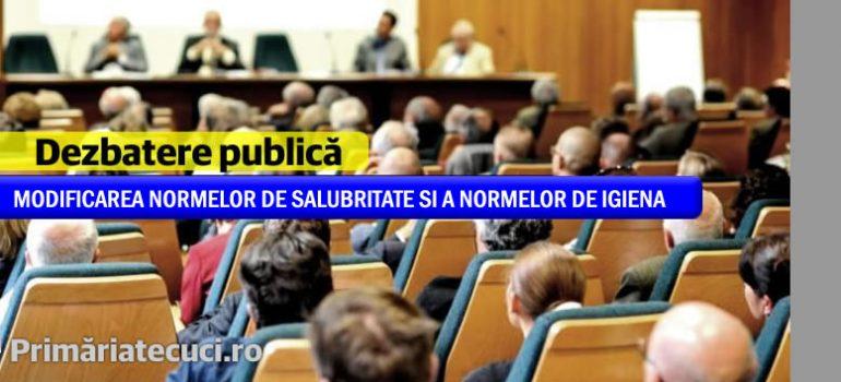 MODIFICAREA NORMELOR DE SALUBRITATE SI A NORMELOR DE IGIENA in municipiului Tecuci