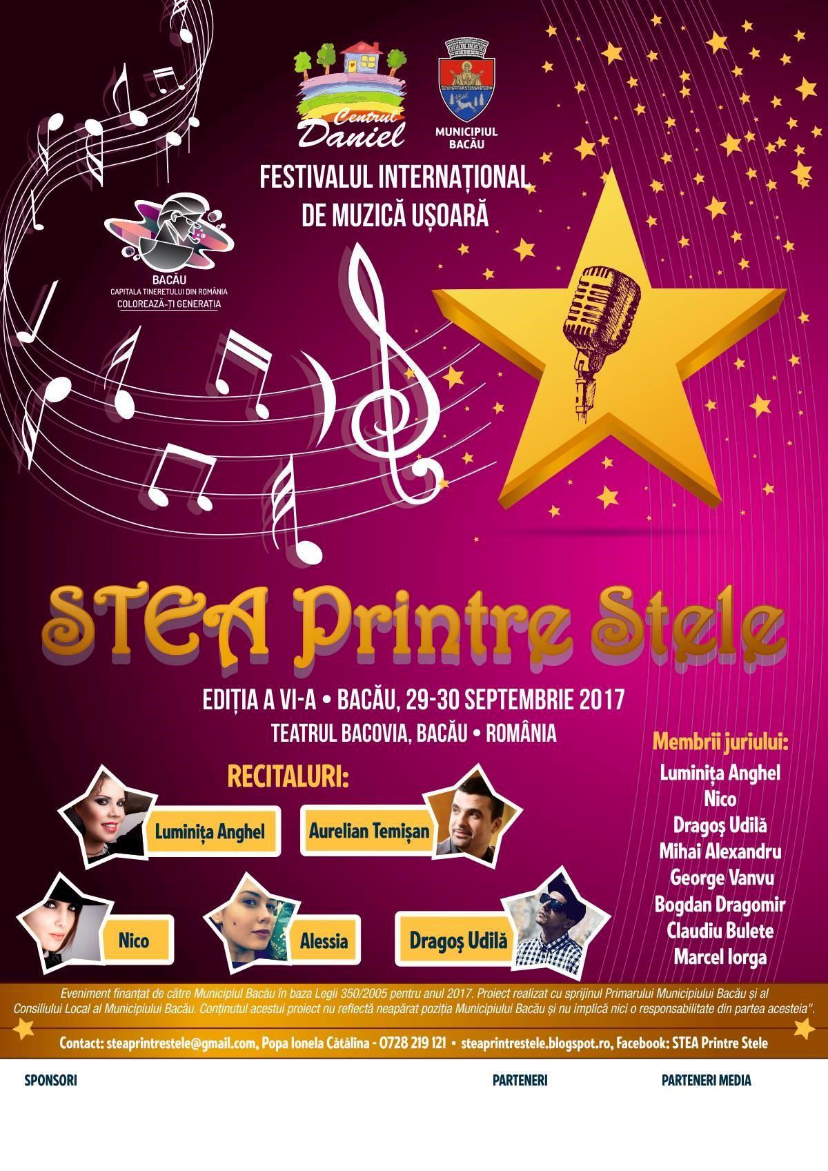 """Festivalul """"STEA printre Stele"""" BACĂU 2017"""