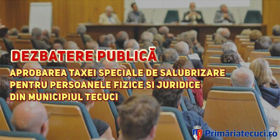 Aprobarea taxei de salubrizare persoanele fizice si juridice din Tecuci
