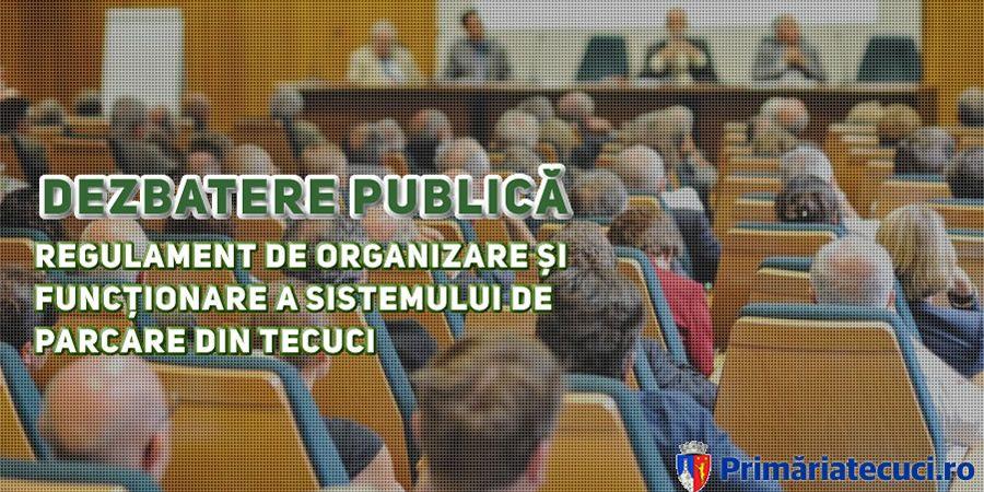 Regulament de organizare și funcționare a parcarilor din Tecuci