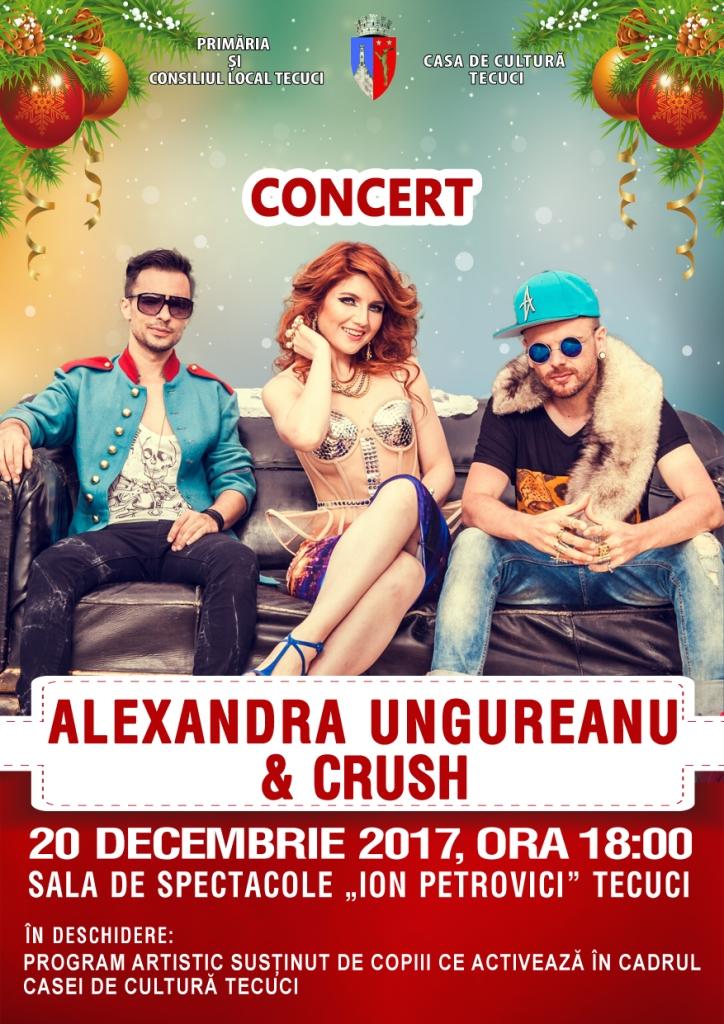 Afis concert Alexandra Ungureanu Tecuci 2017