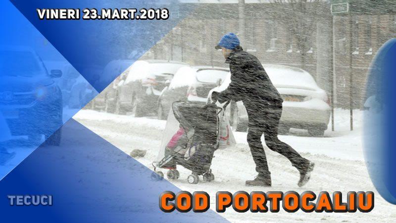 Avertizarea de cod portocaliu pentru ziua de 23 martie 2018