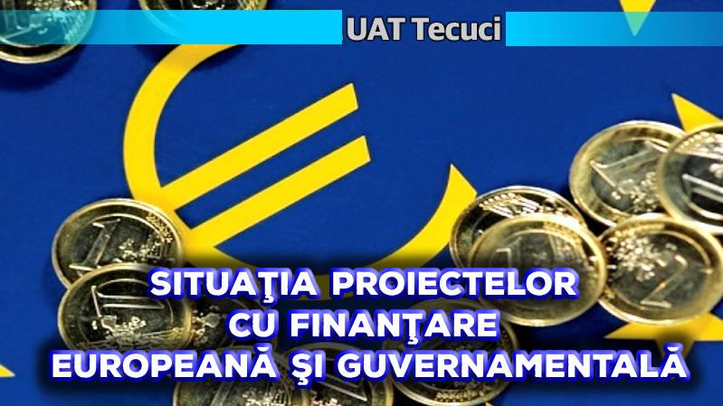 Situatia proiectelor cu finantare europeana