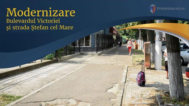 Modernizare Bulevardul Victoriei și strada Ștefan cel Mare