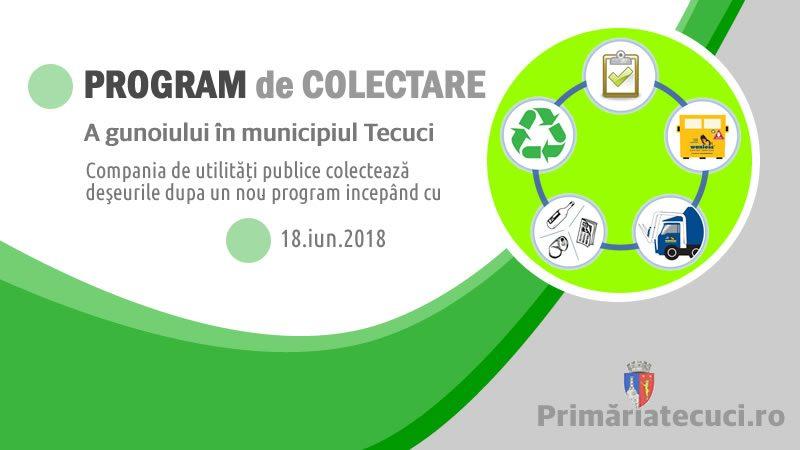 Programul actualizat de colectare a gunoiului