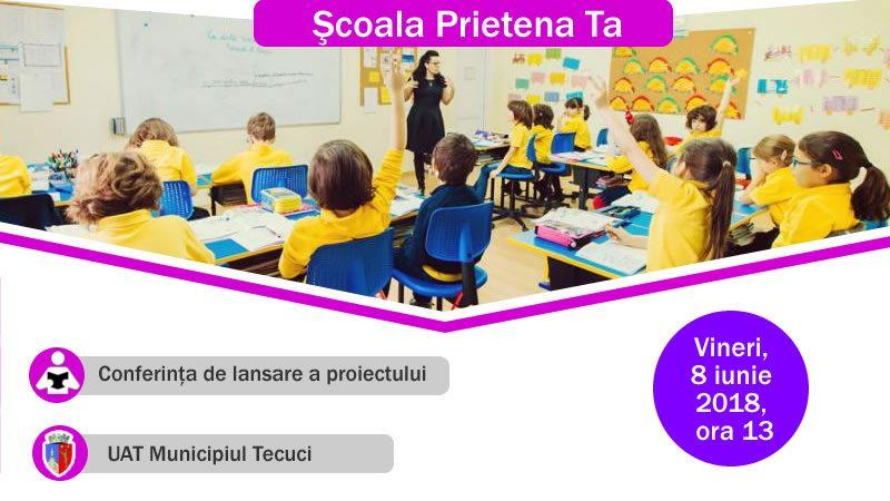 Conferința de lansare a proiectului Școala Prietena Ta