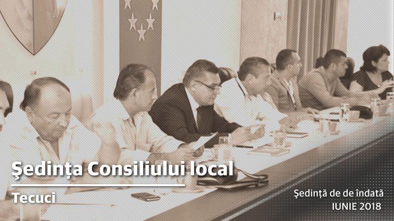 Şedinţă de îndată a Consiliului Local