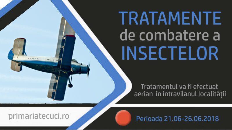 Se vor efectua tratamente de combatere a insectelor in Tecuci