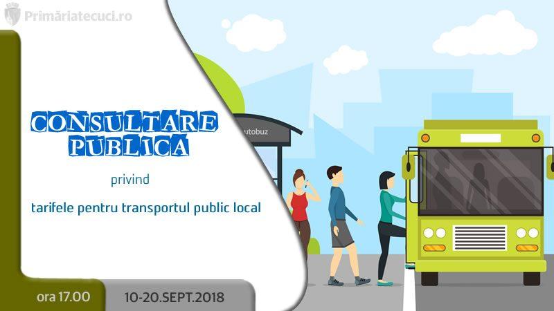 Consultare publică privind tarifele pentru transportul public local