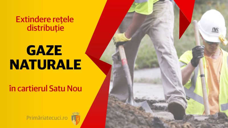 Extindere rețea distribuție gaze în cartierul Satu Nou - Primaria Tecuci