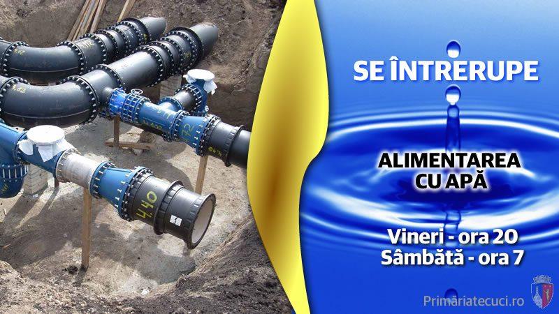 Intreruperea alimentarii cu apa în municipiul Tecuci