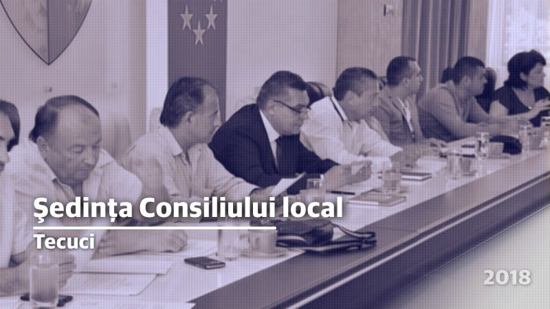 Ședinţă ordinară a Consiliului local nov.2018