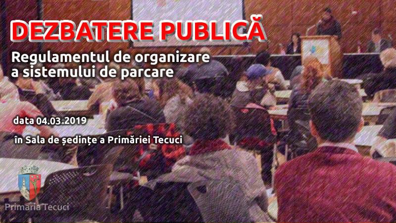 Dezbatere publica parcari - Primaria Tecuci 2019