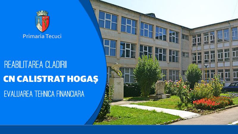 Reabilitarea cladirii colegiului National Calistrat Hogas Tecuci