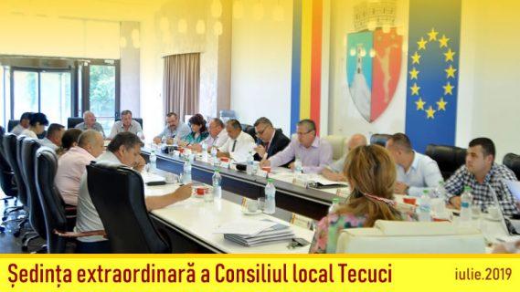 Ședinţa extraordinară a Consiliului local iulie 2019