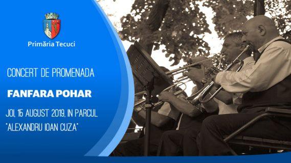 Concert de promenadă sustinut de Fanfara Pohar