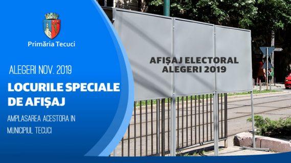 Locurile speciale de afisaj electoral 2019
