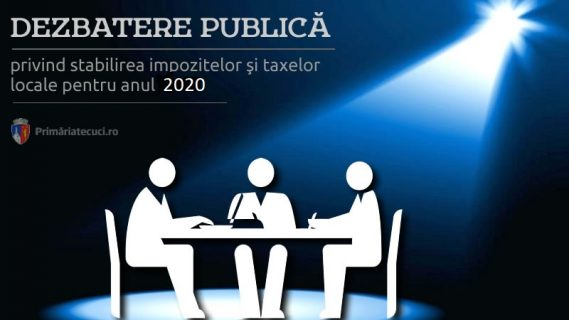 Dezbatere publică impozite taxe anul 2020