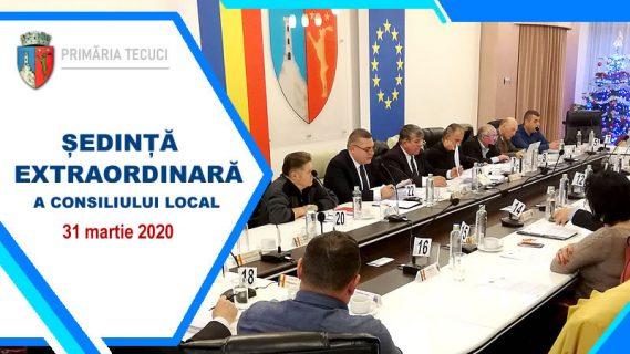 Sedinta extraordinara a consiliului local Tecuci mart 2020
