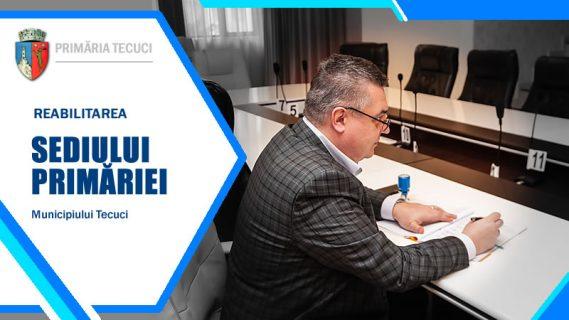 Semnare contract Reabilitare sediul Primariei Tecuci 2020